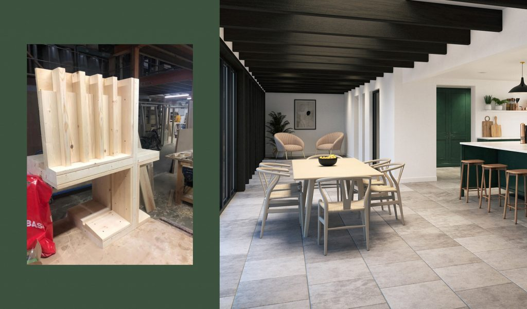 Kitchen mockup walters architects