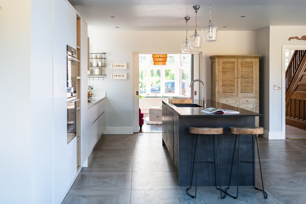 Renovated kitchen space.