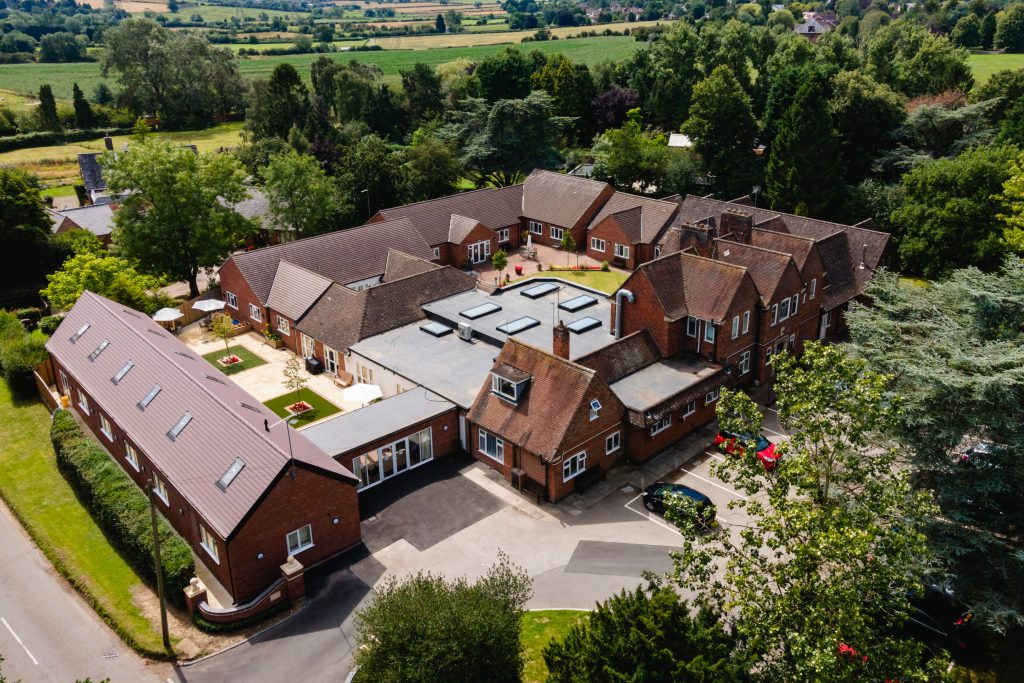 Aerial view of care home.