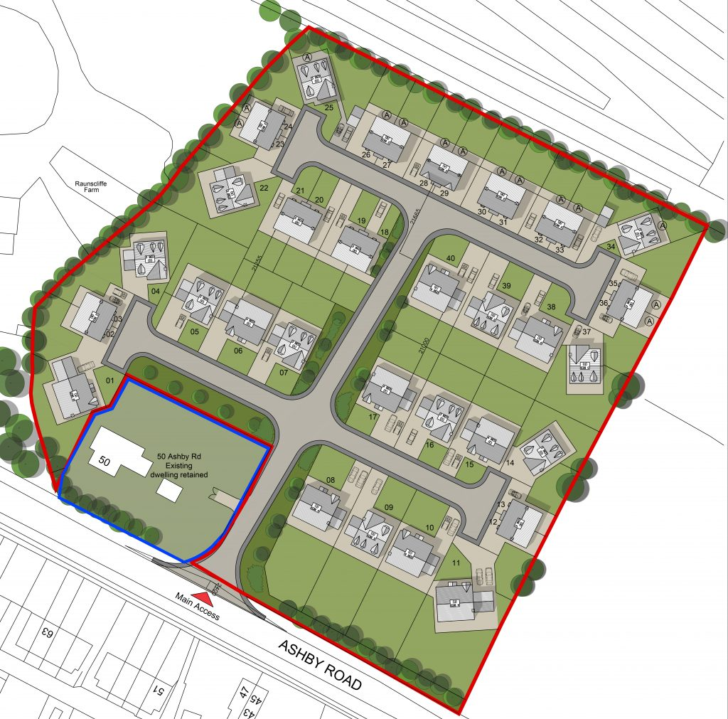 Part of an initial feasibility study for a plot in Leicestershire