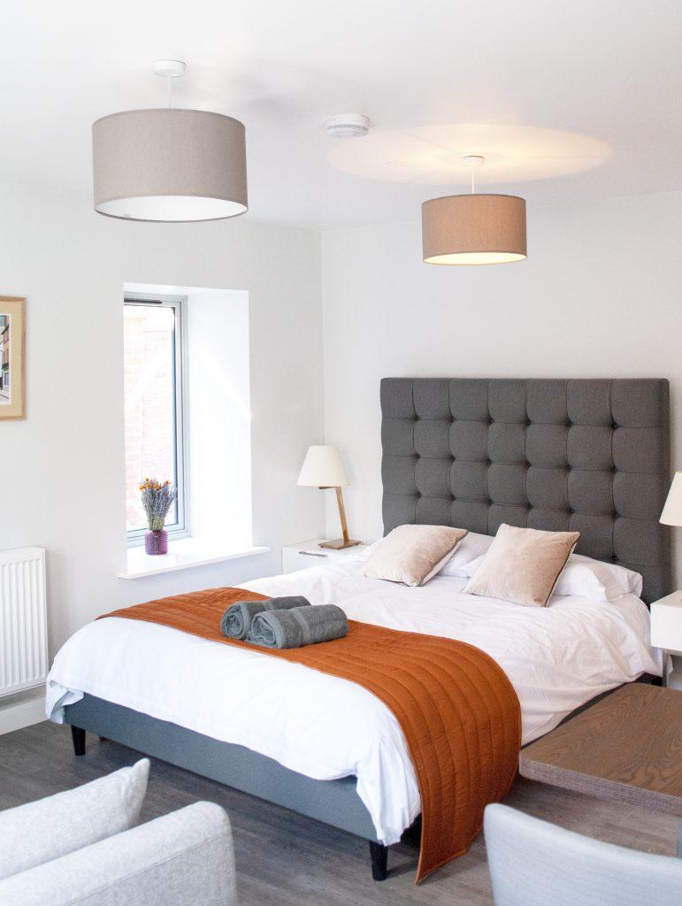 Grey And Orange Bed Suite
