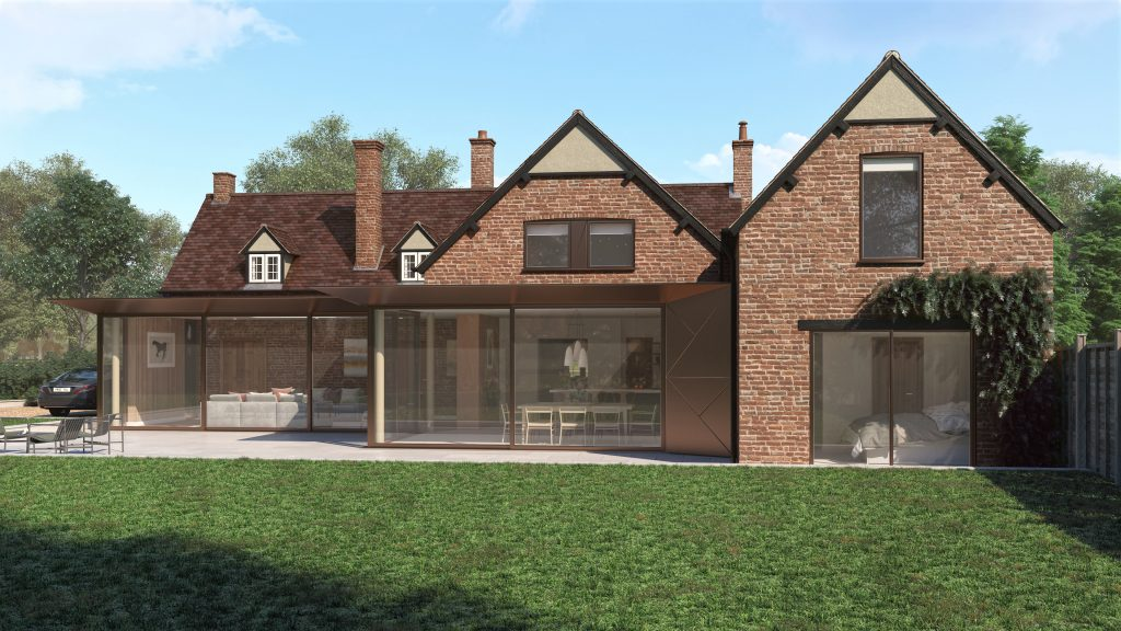 design of a contemporary extension to a building in Bedfordshire