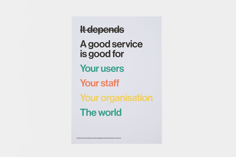 A Good Service Is For Everyone Poster