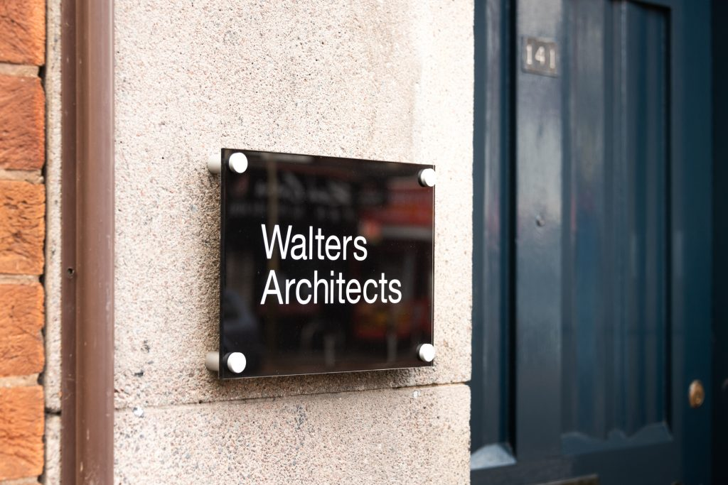 Walters Architects building sign