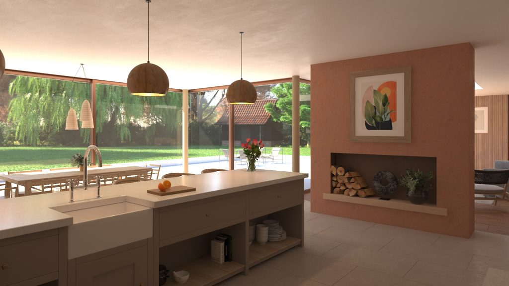Visual of the proposed kitchen