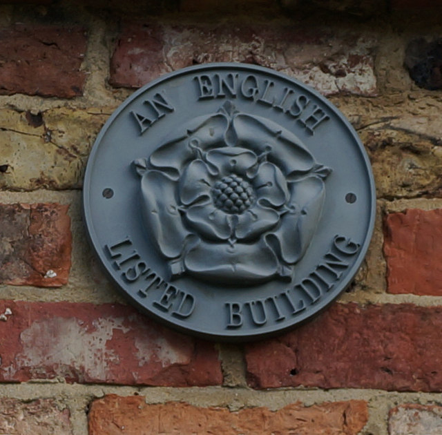 English Listed Building Sign