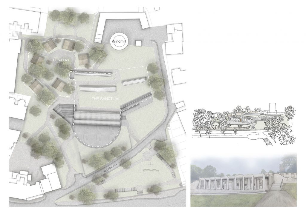 large drawing of a building plan